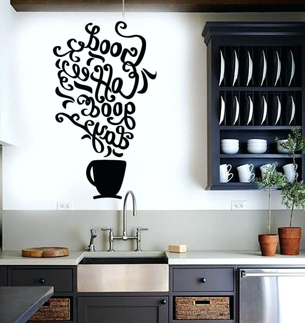 Wall Arts ~ Kitchen Wall Art Stickers Ebay Kitchen Pertaining To Fashionable 3D Wall Art For Kitchen (View 13 of 15)