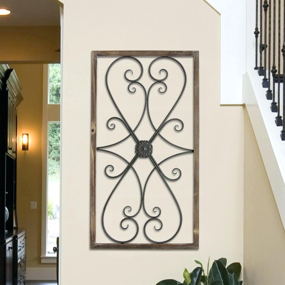 Wall Arts ~ Metal Gate Panel Wall Decor Glenna Jean Garden Gate With Fashionable Iron Gate Wall Art (View 14 of 15)