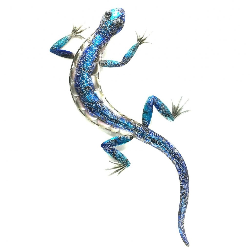 Wall Arts ~ Metal Gecko Wall Art Set Of 12 Painted Metal Gecko Inside Well Liked Gecko Outdoor Wall Art (View 14 of 15)