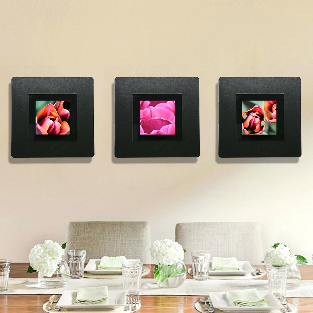 Wall Arts ~ Modern Floral Wall Decor Pink Orange Abstract Metal With Regard To Most Up To Date Rectangular Metal Wall Art (View 13 of 15)