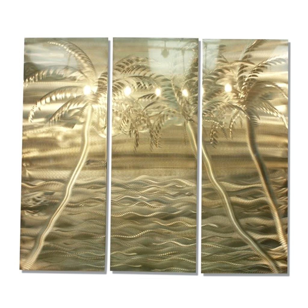 Wall Arts ~ Modern Gold Tropical Abstract Metal Wall Art Office Within Well Known Rectangular Metal Wall Art (View 14 of 15)