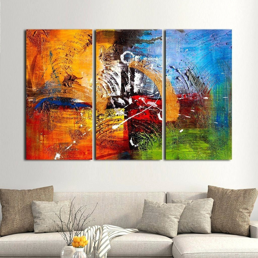 Wall Arts ~ Multiple Canvas Wall Artwork Multi Panel Canvas Art Regarding Famous Multiple Canvas Wall Art (View 5 of 15)