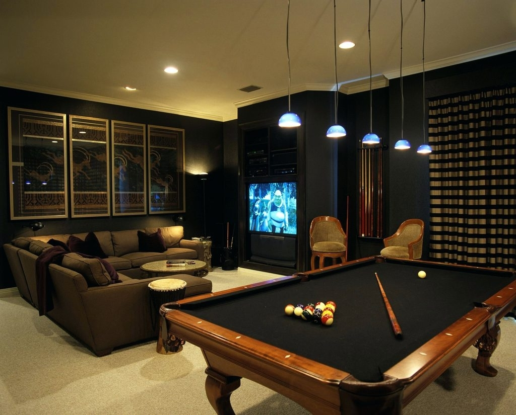 Wall Arts ~ Pool Ball Wall Art Billiard Ball Wall Art Dark Media With Preferred Media Room Wall Art (View 15 of 15)