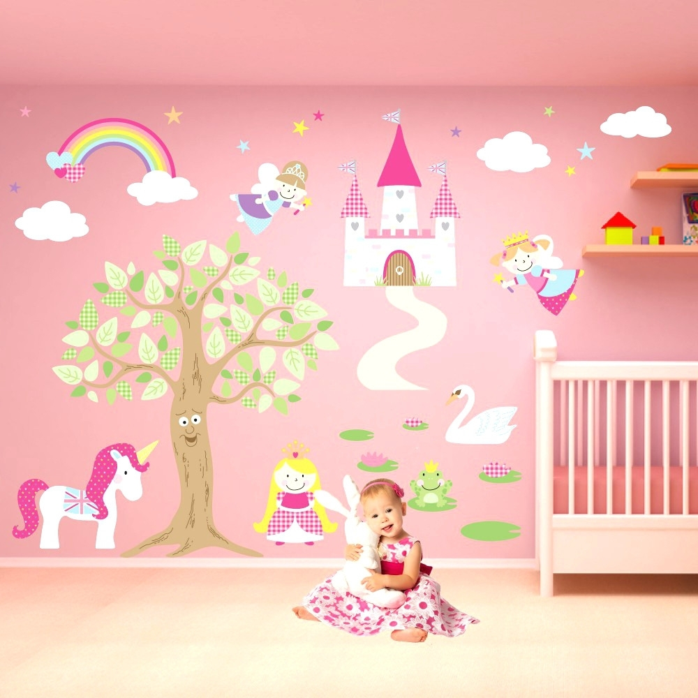 Wall Arts ~ Princess Wall Art Stickers Princess Castle Wall Art In Well Liked Disney Princess Wall Art (View 13 of 15)