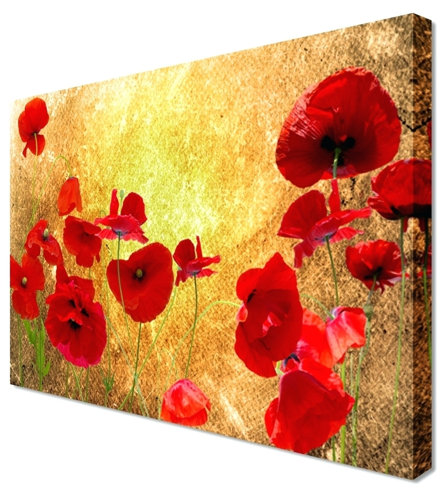 Explore Photos of Red Poppy Canvas Wall Art (Showing 2 of 15 Photos)