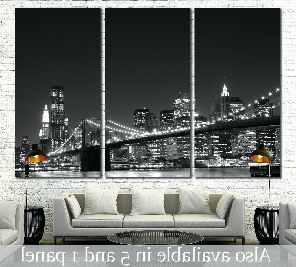 Wall Arts ~ Starry Night Brooklyn Bridge Brooklyn Bridge At Night With Regard To Most Up To Date Brooklyn Bridge Metal Wall Art (View 12 of 15)