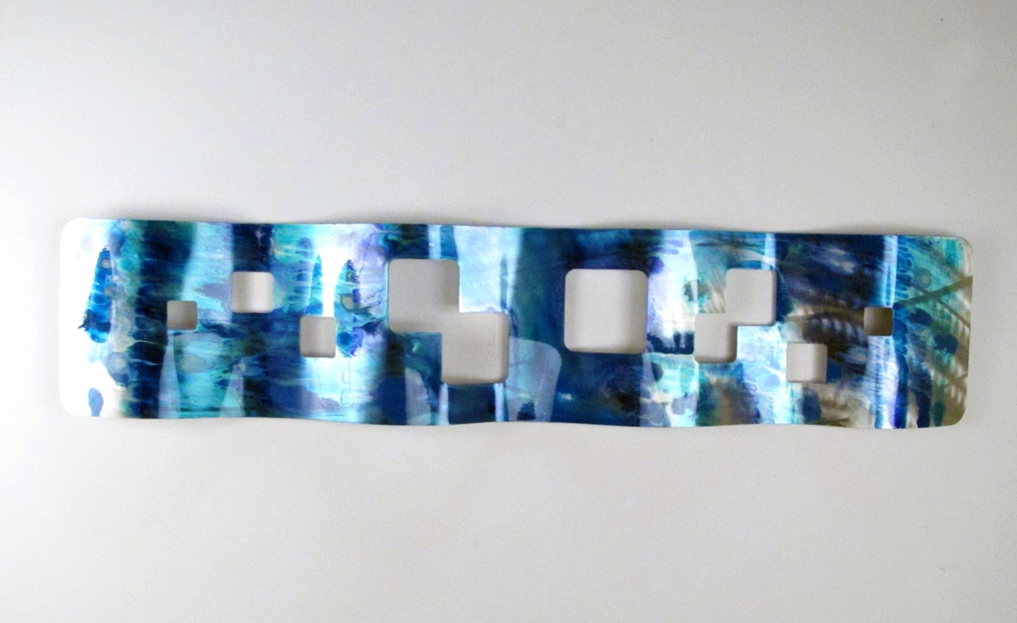 Wall Arts ~ Teal Metal Wall Art Uk Zoom Metal Wall Art Tea Light Inside Fashionable Teal Wall Art Uk (View 9 of 15)