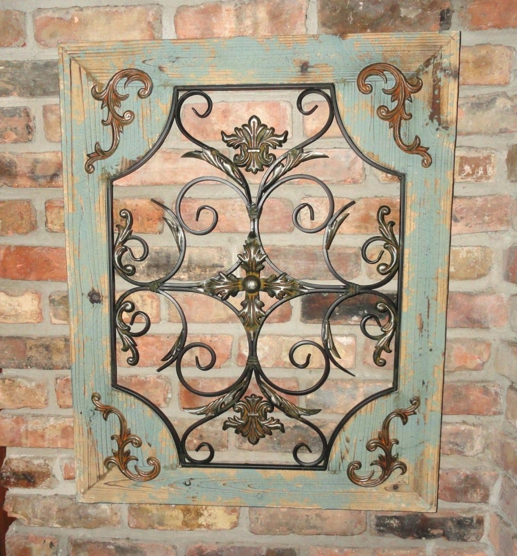 Wall Arts ~ Tuscan Fleur De Lis Hanging Metal Wall Art Panels With Well Known Tuscan Wrought Iron Wall Art (View 14 of 15)