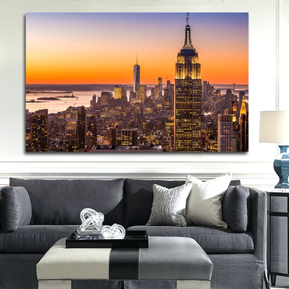 Wall Arts ~ Wall Art New York City Cityscape Wall Art New York Within Well Known New York City Wall Art (View 15 of 15)