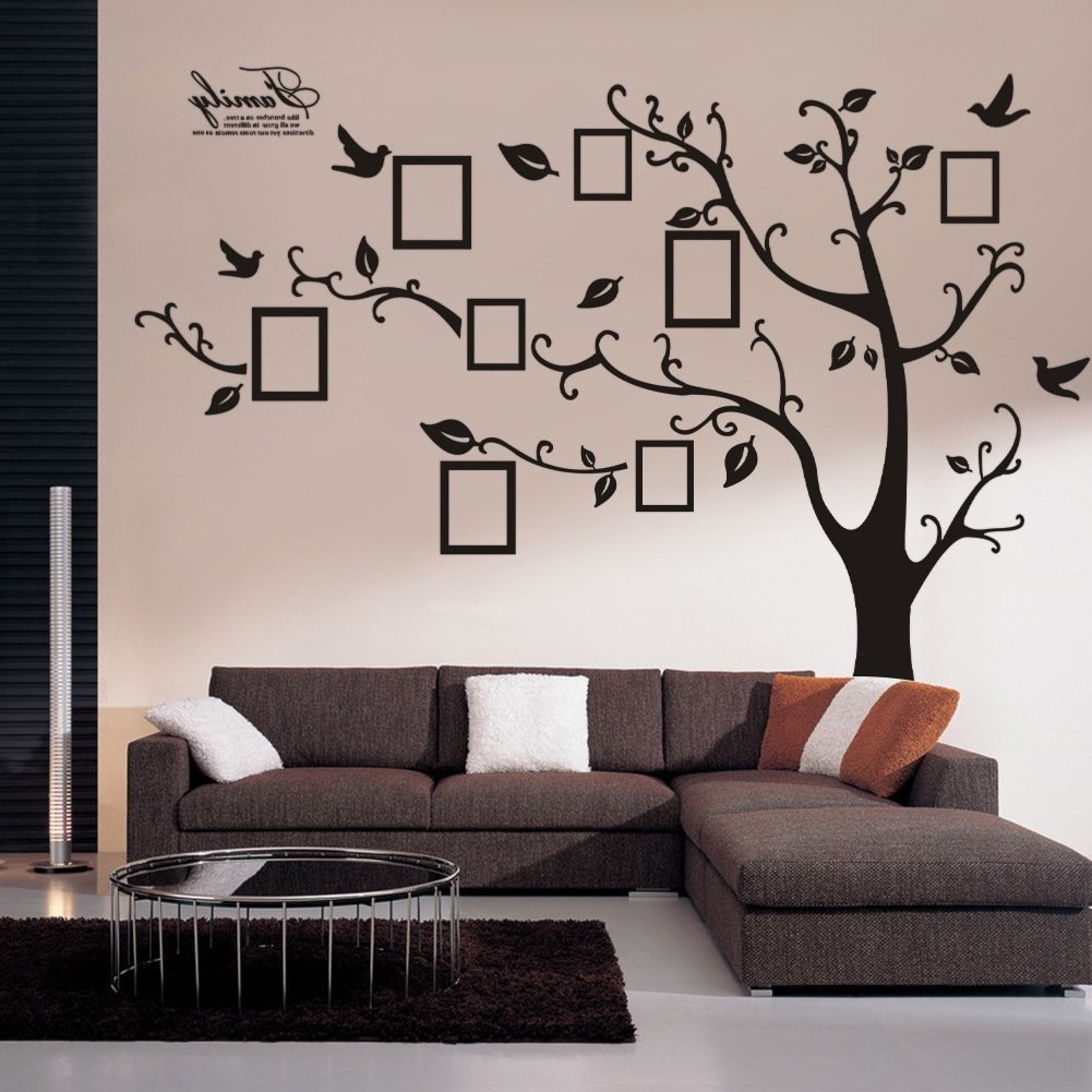 Wall Cling Art Inside Most Up To Date Amazon: Wall Decals Art Stickers Waterproof, Huge Size Family (View 13 of 15)