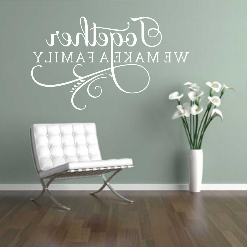 Wall Decal: Good Look Family Wall Decals Walmart Family Decals Regarding  Well Known Walmart Wall