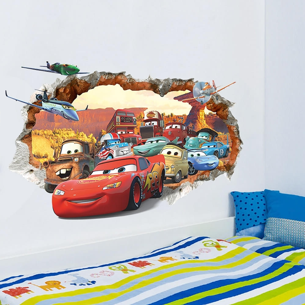 Wall Decals For Cars 3D Wall Art (View 2 of 15)