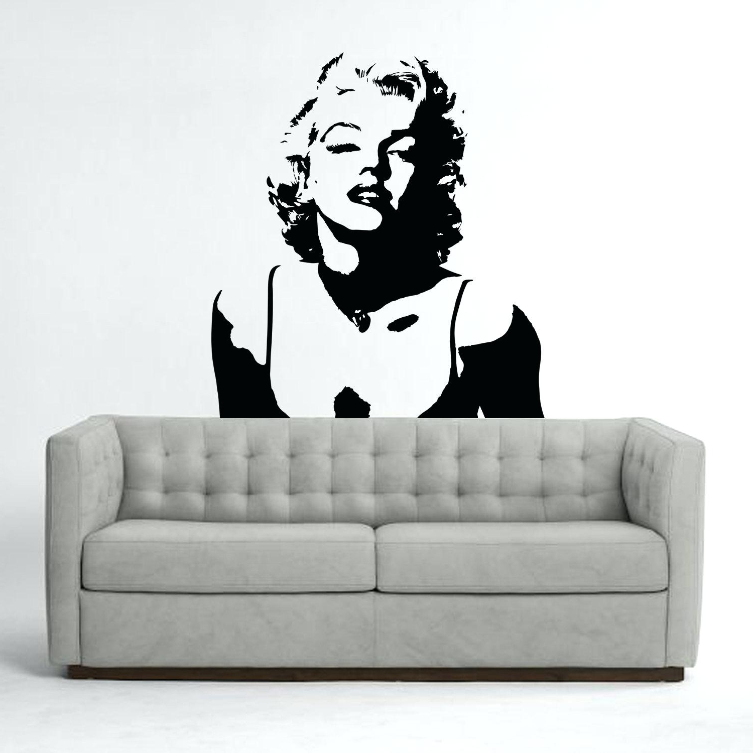 Wall Decals Marilyn Monroe Vinyl Wall Sticker Iconic Wall Sticker In Trendy Marilyn  Monroe Wall Art