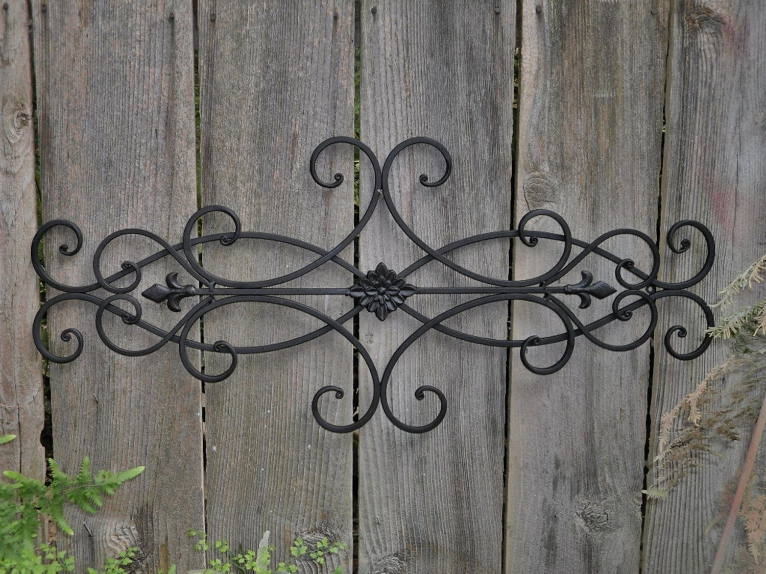 Wall Decor Indoor Outdoor Cottage Style Fleur Throughout Tuscan Wrought Iron Wall Art (View 15 of 15)