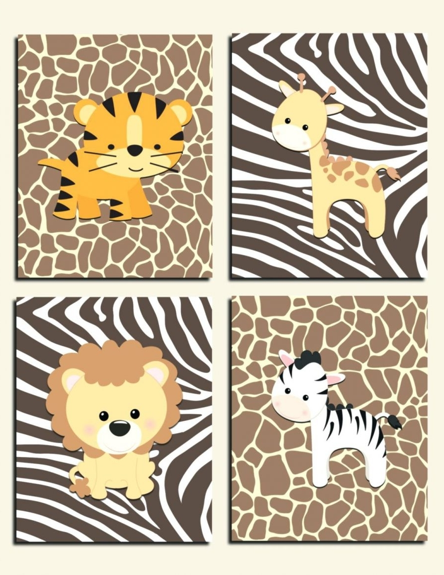 Wall Ideas: Safari Wall Art Stickers African Safari Canvas Wall With Regard To Most Recently Released Jungle Canvas Wall Art (View 12 of 15)