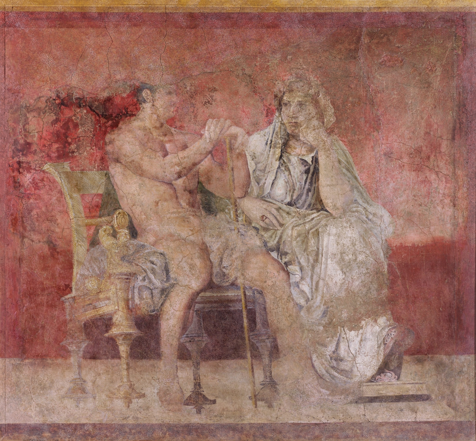 Wall Painting From Room H Of The Villa Of P (View 13 of 15)