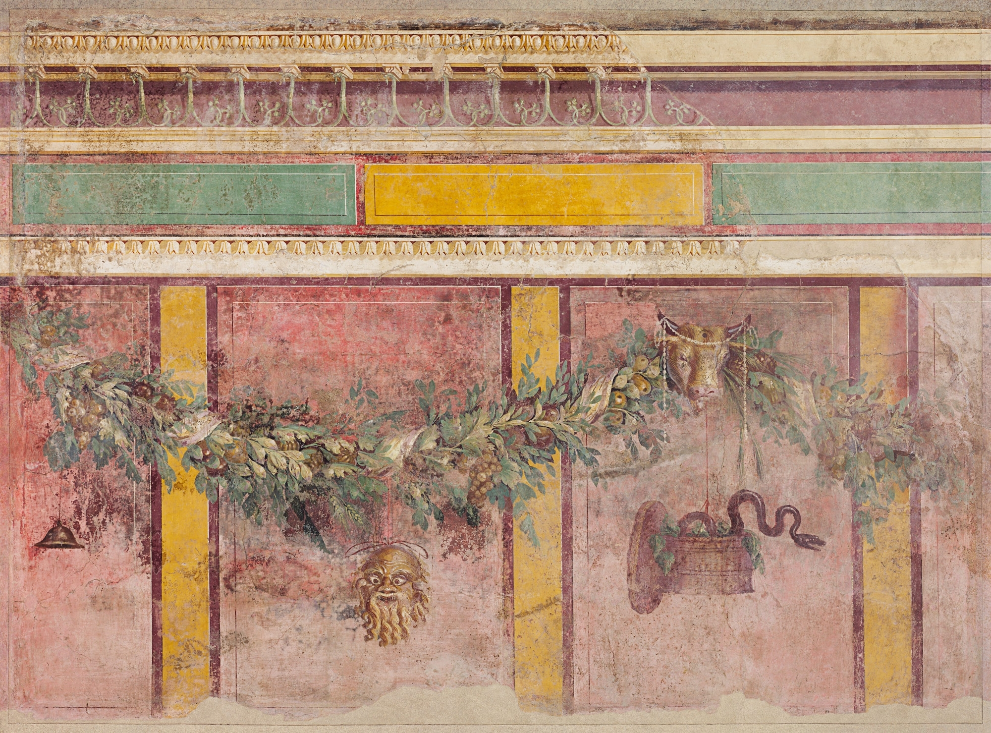 Wall Painting From The West Wall Of Room L Of The Villa Of P For Well Known Italian Villa Wall Art (View 14 of 15)