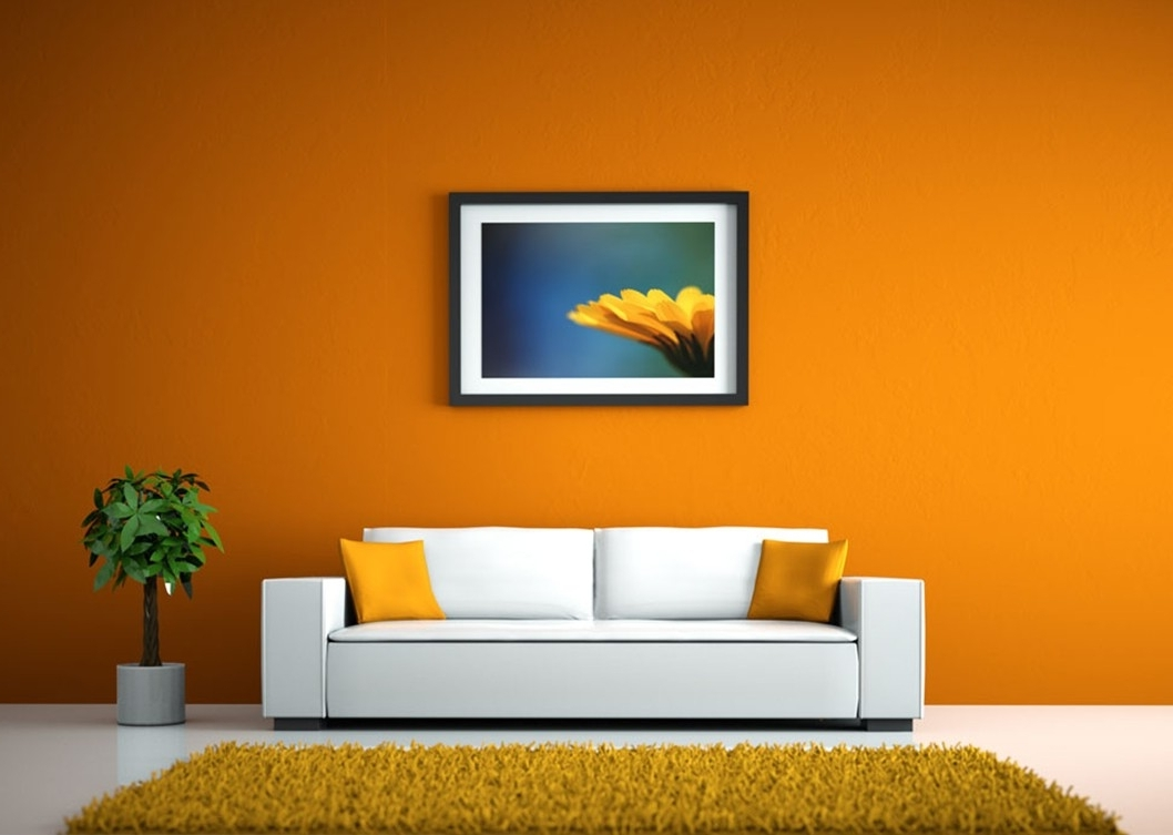 Wall Pictures For Living Room With Newest Walls White Sofa Living Room Red Orange – Homes Alternative (View 11 of 15)