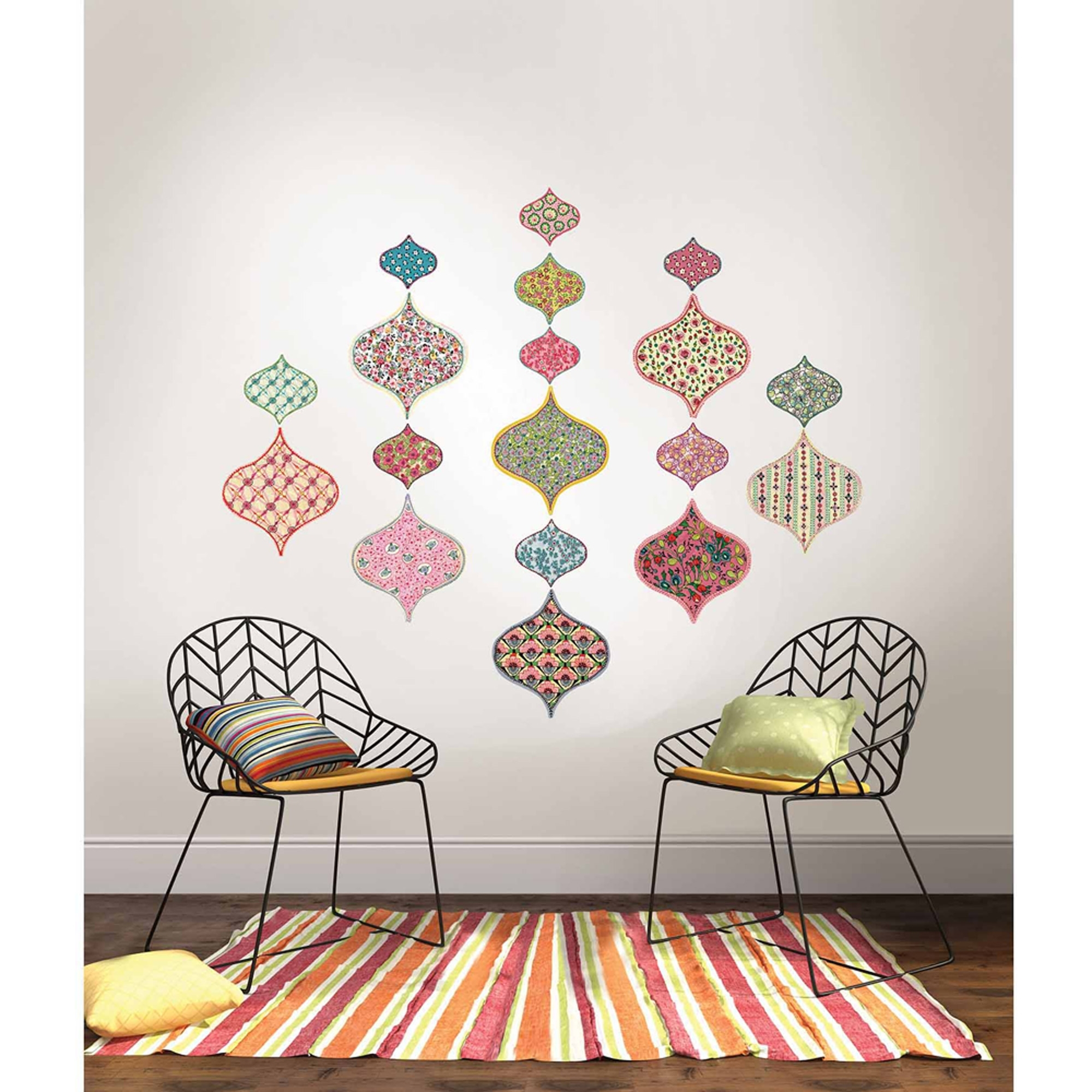 Wall Pops Boho Chic Ogee Large Wall Art Decal Kit – Walmart Pertaining To Most Recently Released Boho Chic Wall Art (View 12 of 15)