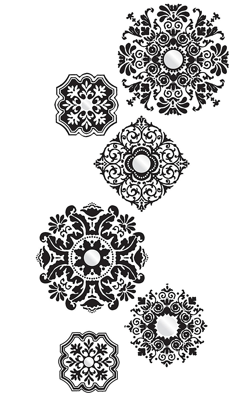 Wall Pops Wpk96845 Peel & Stick Baroque Large Wall Art Kit – Wall In Well Known Filigree Wall Art (View 10 of 15)