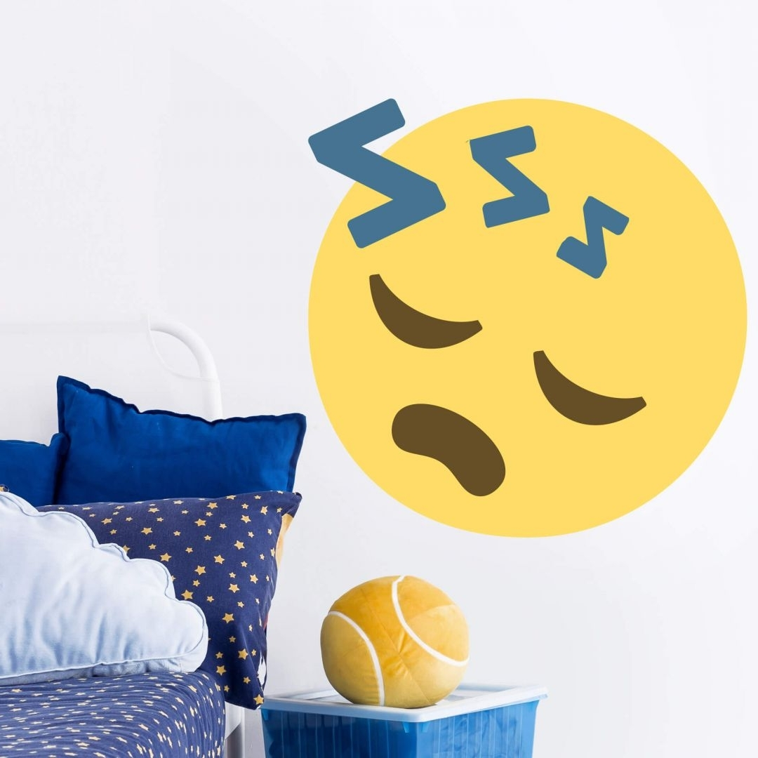 Wall Sticker Emoji Sleeping Face – Wall Art Pertaining To Popular Emoji Wall Art (View 12 of 15)