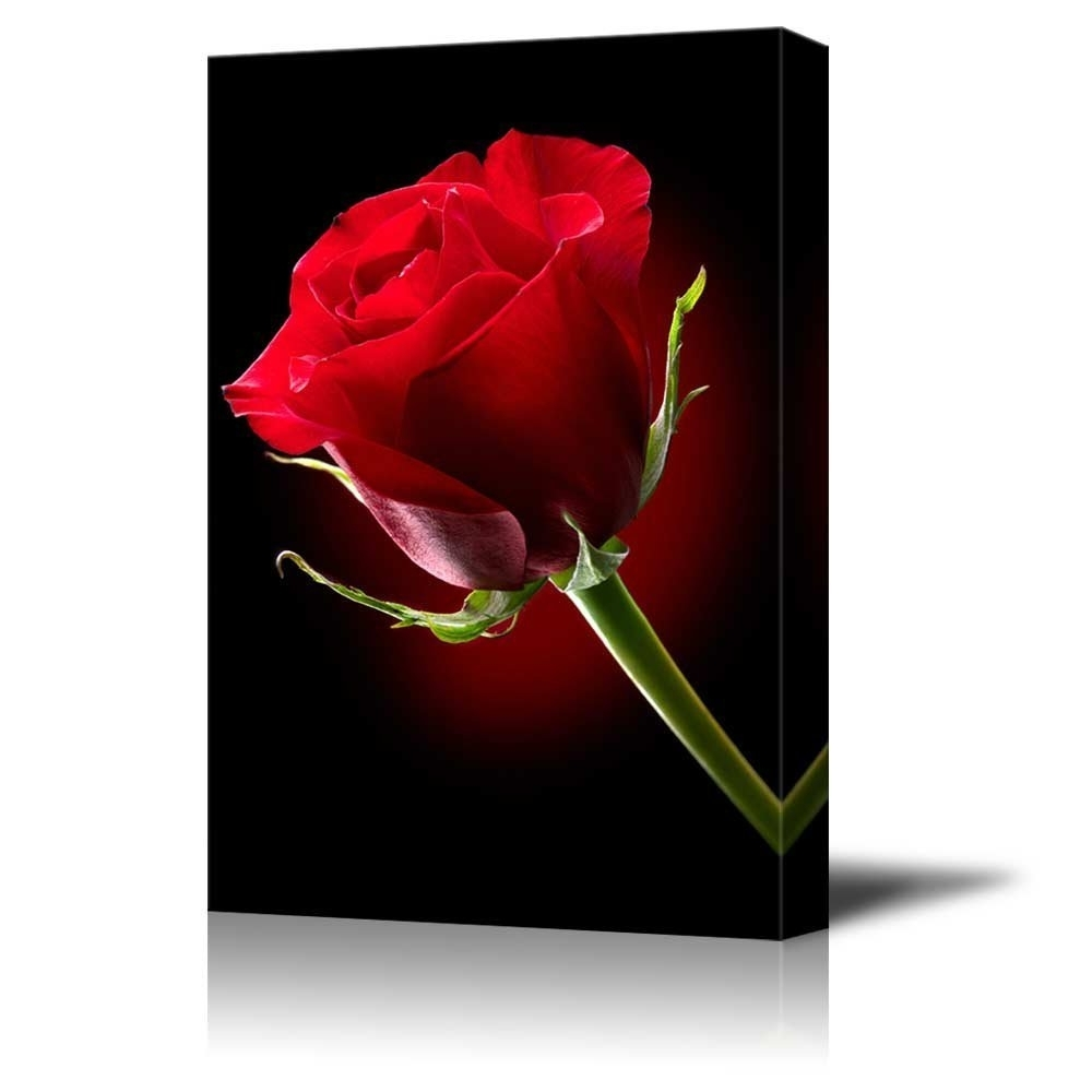Wall26 – Art Prints – Framed Art – Canvas Prints – Greeting For Trendy Red Rose Wall Art (View 13 of 15)