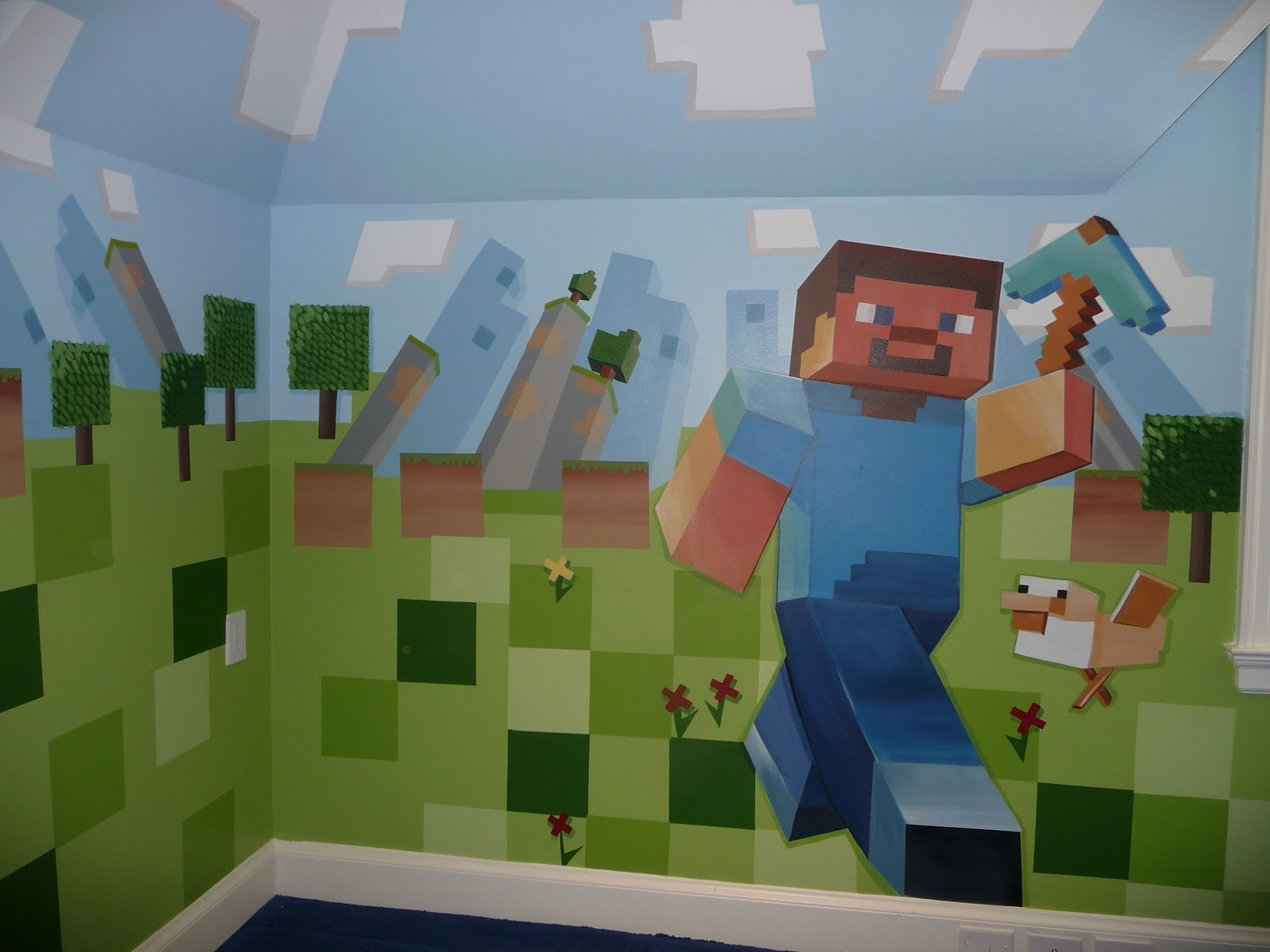 Wallpaper Minecraft Wall Decorations (View 14 of 15)
