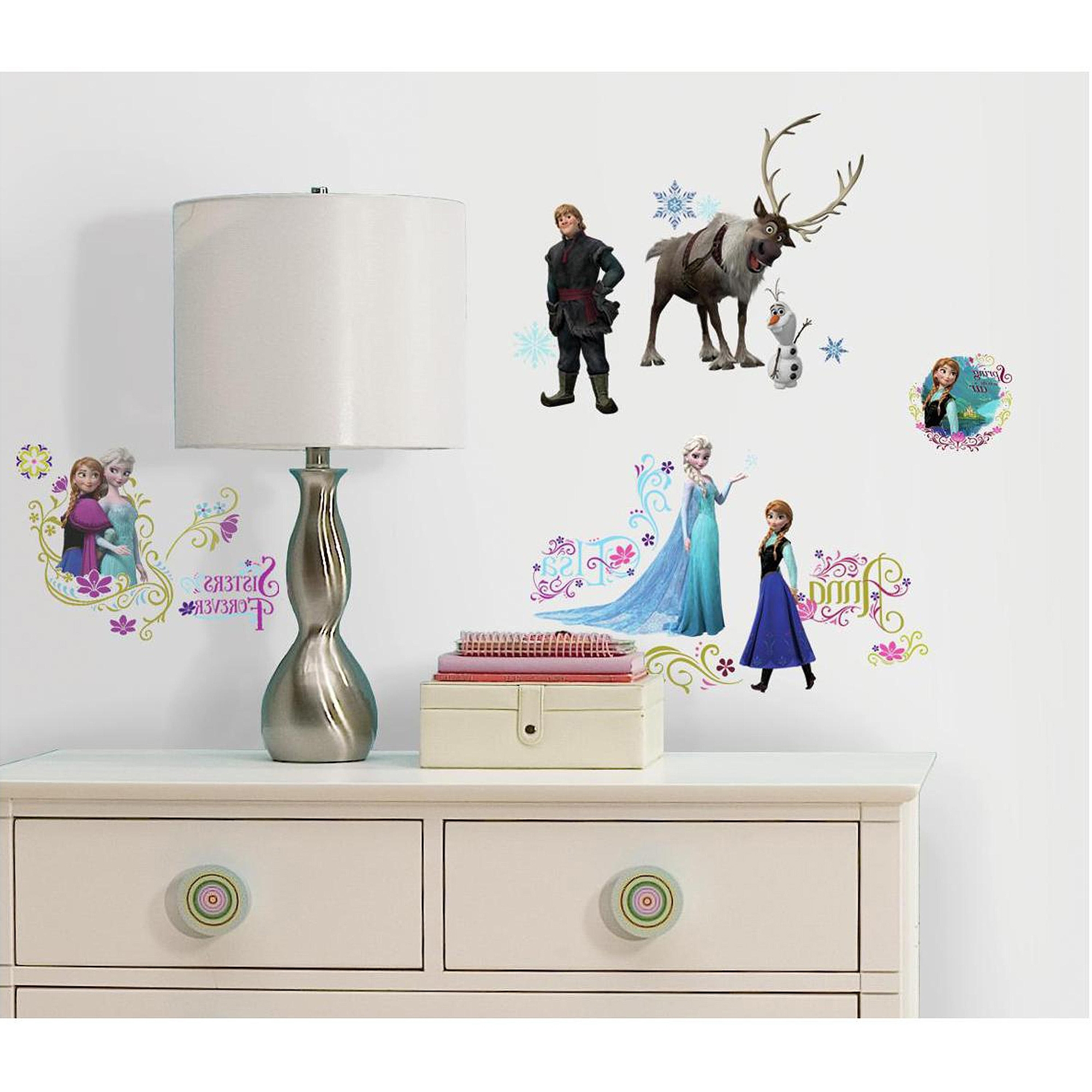 Walmart Wall Stickers Within Most Current Frozen Peel And Stick Wall Decals – Walmart (View 14 of 15)