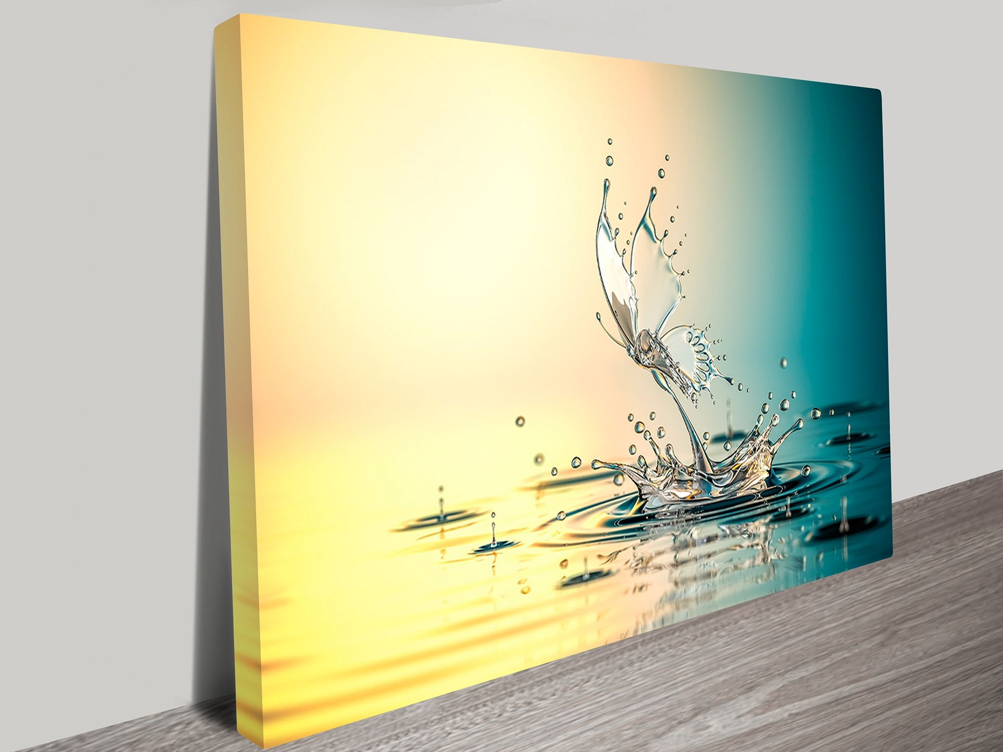 Water Butterfly Abstract Canvas Wall Art Geelong Intended For Well Known Abstract Canvas Wall Art Australia (View 3 of 15)