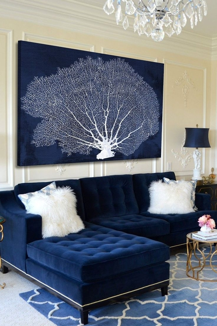 Watercolor, Mountain Art With Regard To Navy Blue Wall Art (View 12 of 15)