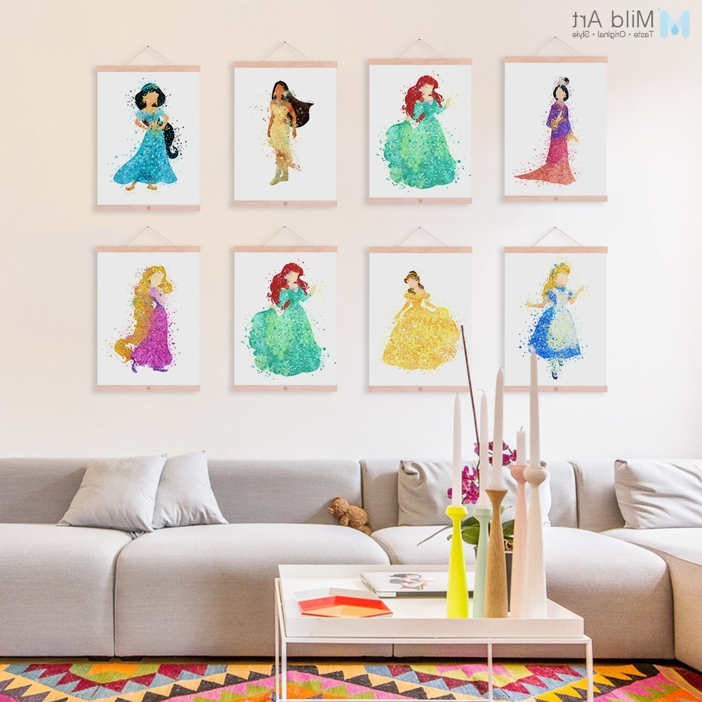 Featured Photo of Disney Princess Framed Wall Art