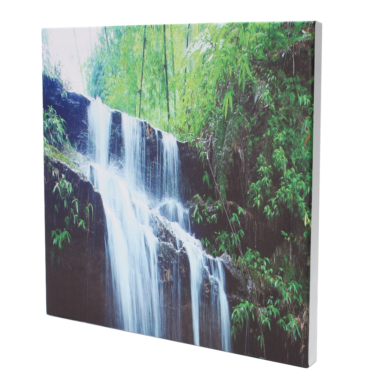 Waterfall Wall Art For Popular 3 Cascade Large Waterfall Framed Print Painting Canvas Wall Art (View 2 of 15)