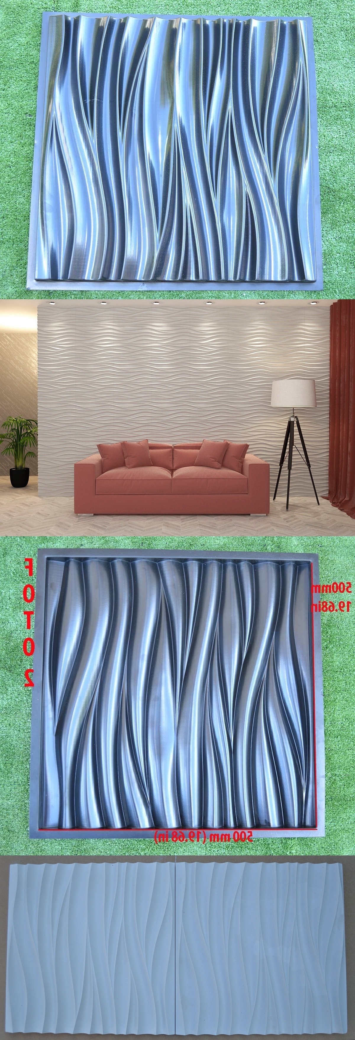 Waves 3D Wall Art Pertaining To 2017 Slip Casting Molds And Kits 83898: Wave 3D Wall Panel Mold Plaster (View 15 of 15)