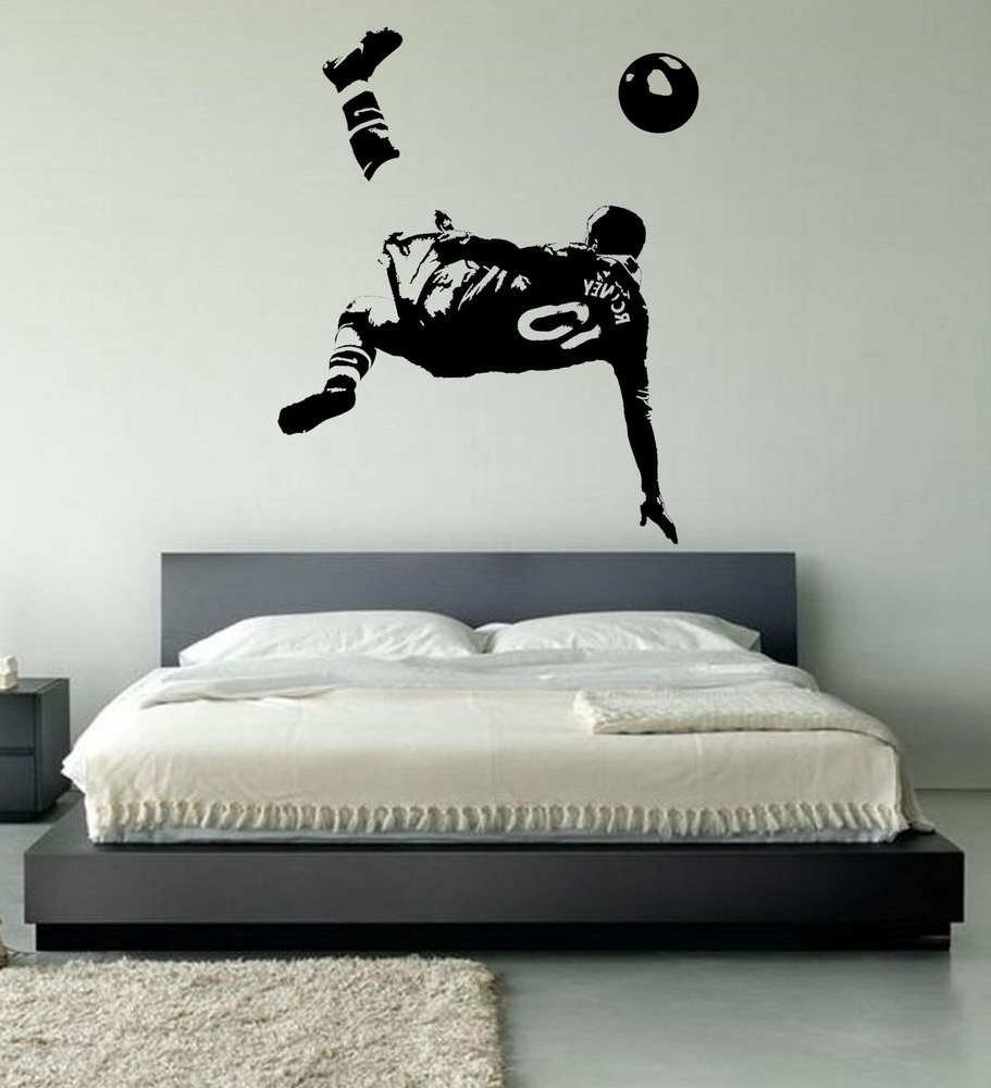 Wayne Rooney Football Wall Art Stickers, Over Head Kick,manchester Regarding Well Known Wall Art For Bedroom (View 11 of 15)