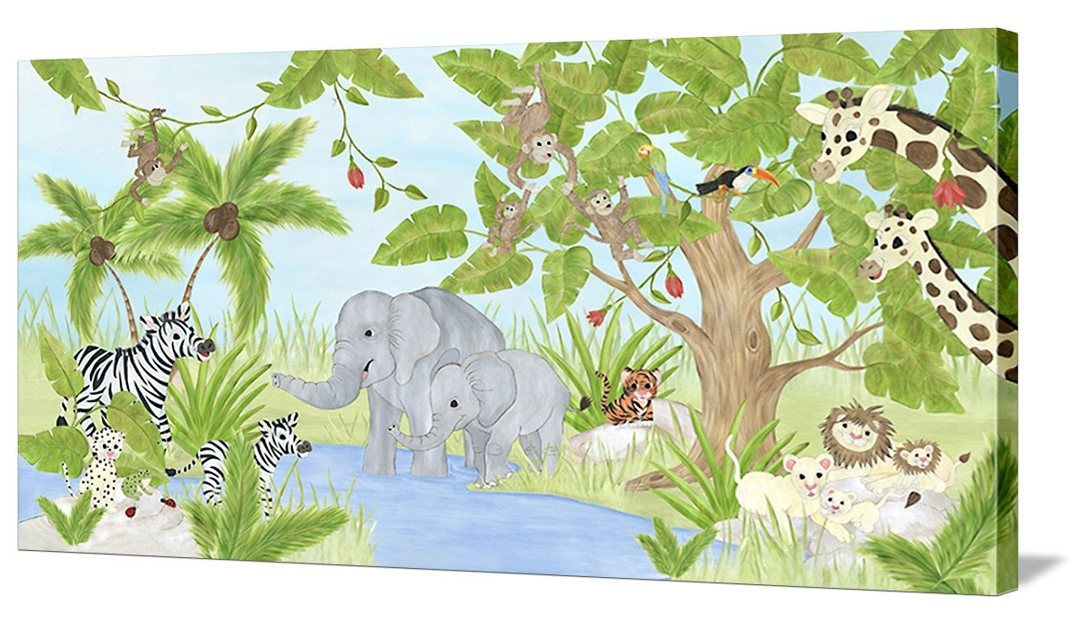 Welcome To My Jungle – Canvas Wall Art Regarding Well Known Jungle Canvas Wall Art (View 13 of 15)
