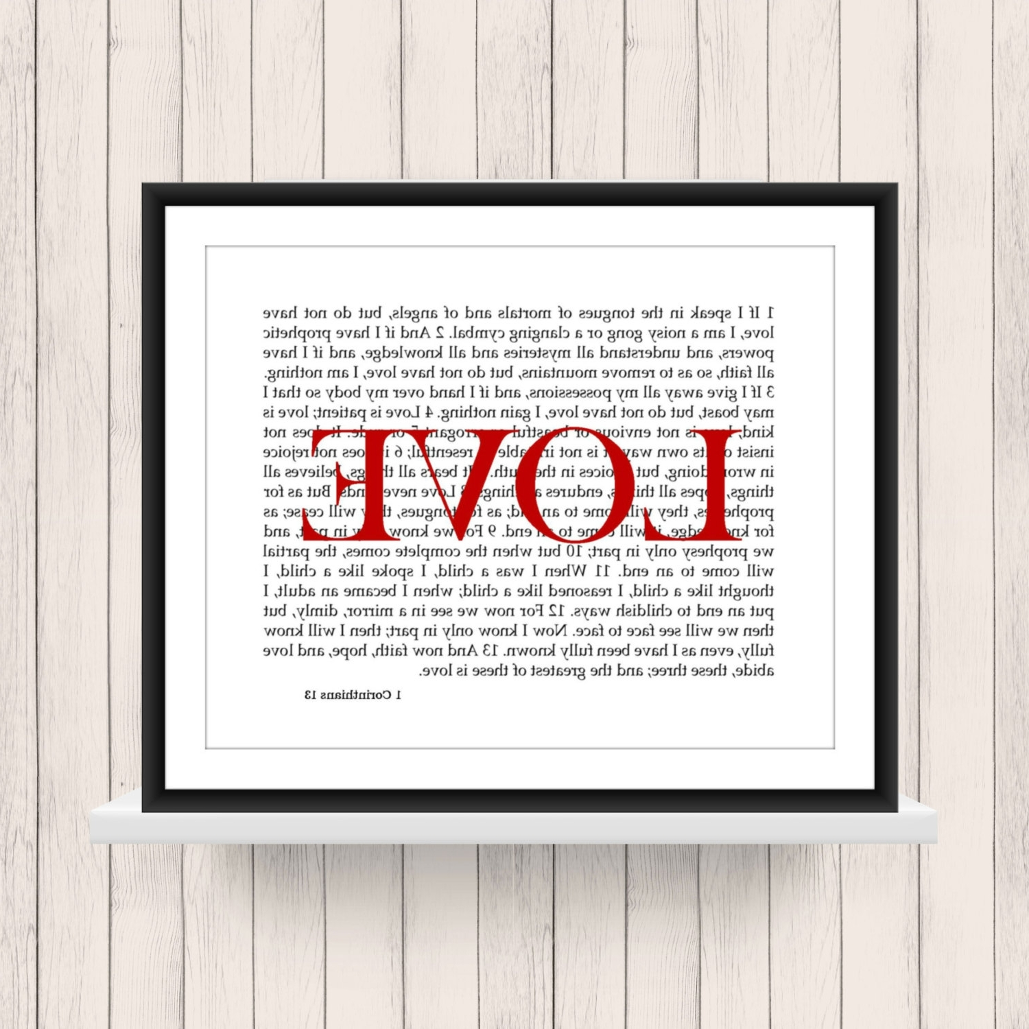 Well Known 1 Corinthians 13 Wall Art Within Wall Art 1 Corinthians 13 Love Scripture Digital Download (View 15 of 15)