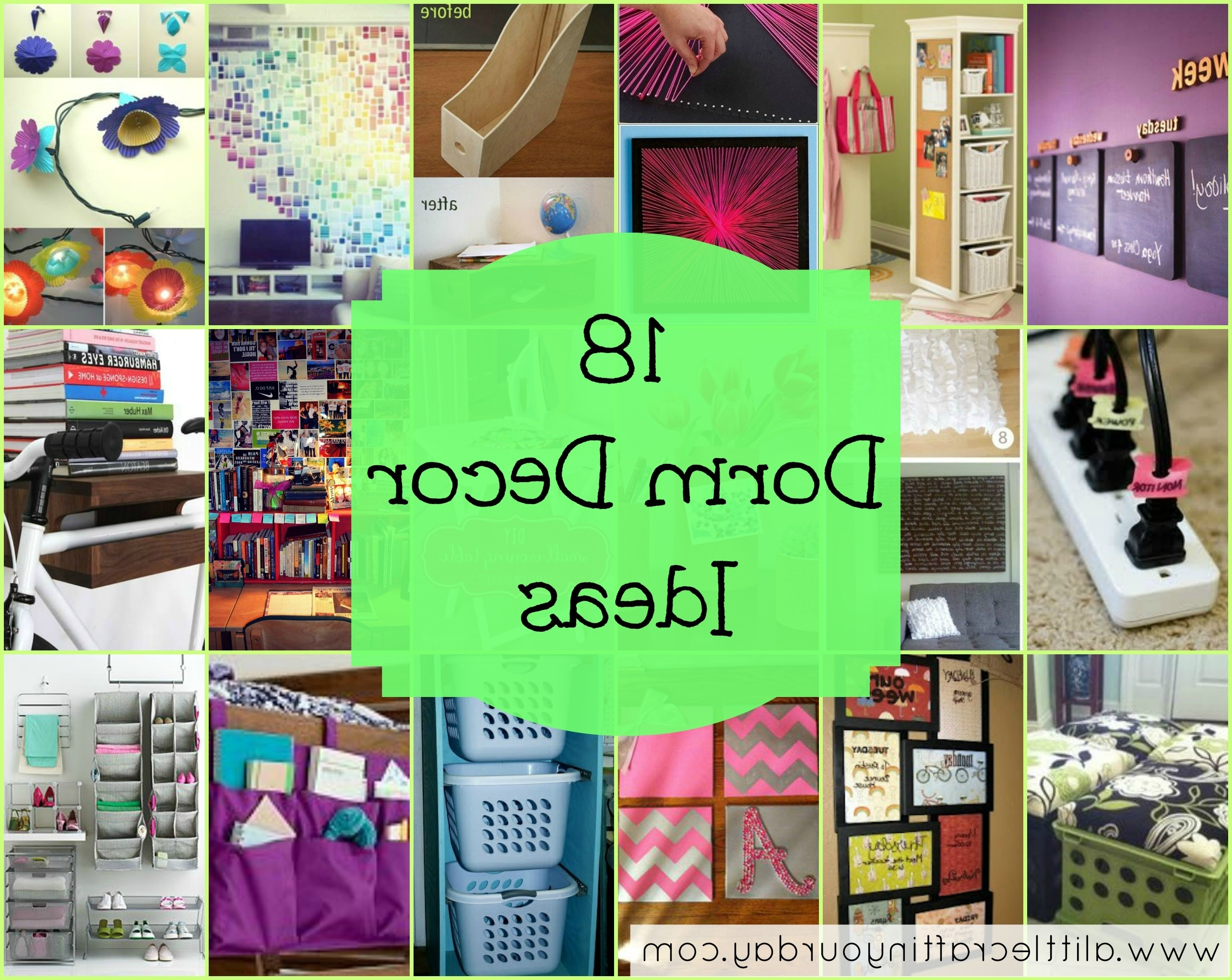 Well Known 18 Dorm Decor Ideas – A Little Craft In Your Day Within Wall Art For College Dorms (View 2 of 15)
