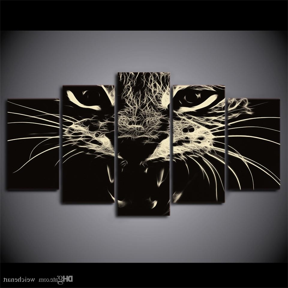 Well Known 2018 Framed Hd Printed Black White Cat Group Painting Wall Art With Regard To Black And White Framed Wall Art (View 13 of 15)