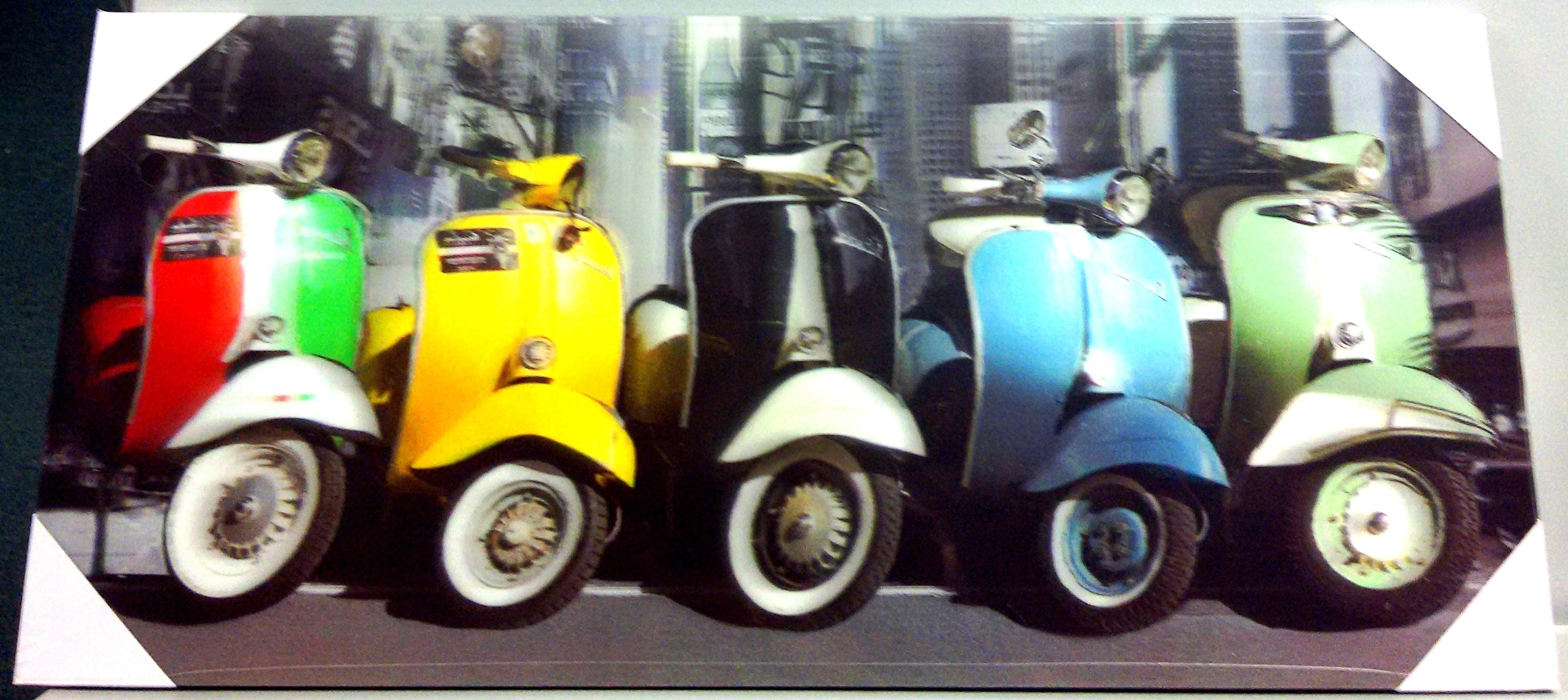 Well Known 3D Art Vespa  23 X 50Cm (View 15 of 15)