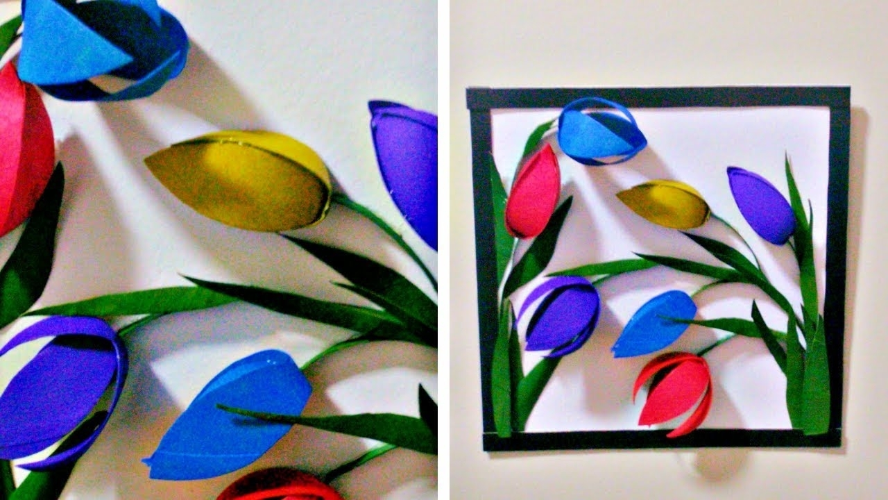 Well Known 3D Glass Wall Art Intended For From Tissue Paper Roll To 3D Wall Decor – Easy Diy Flower Wall (View 14 of 15)