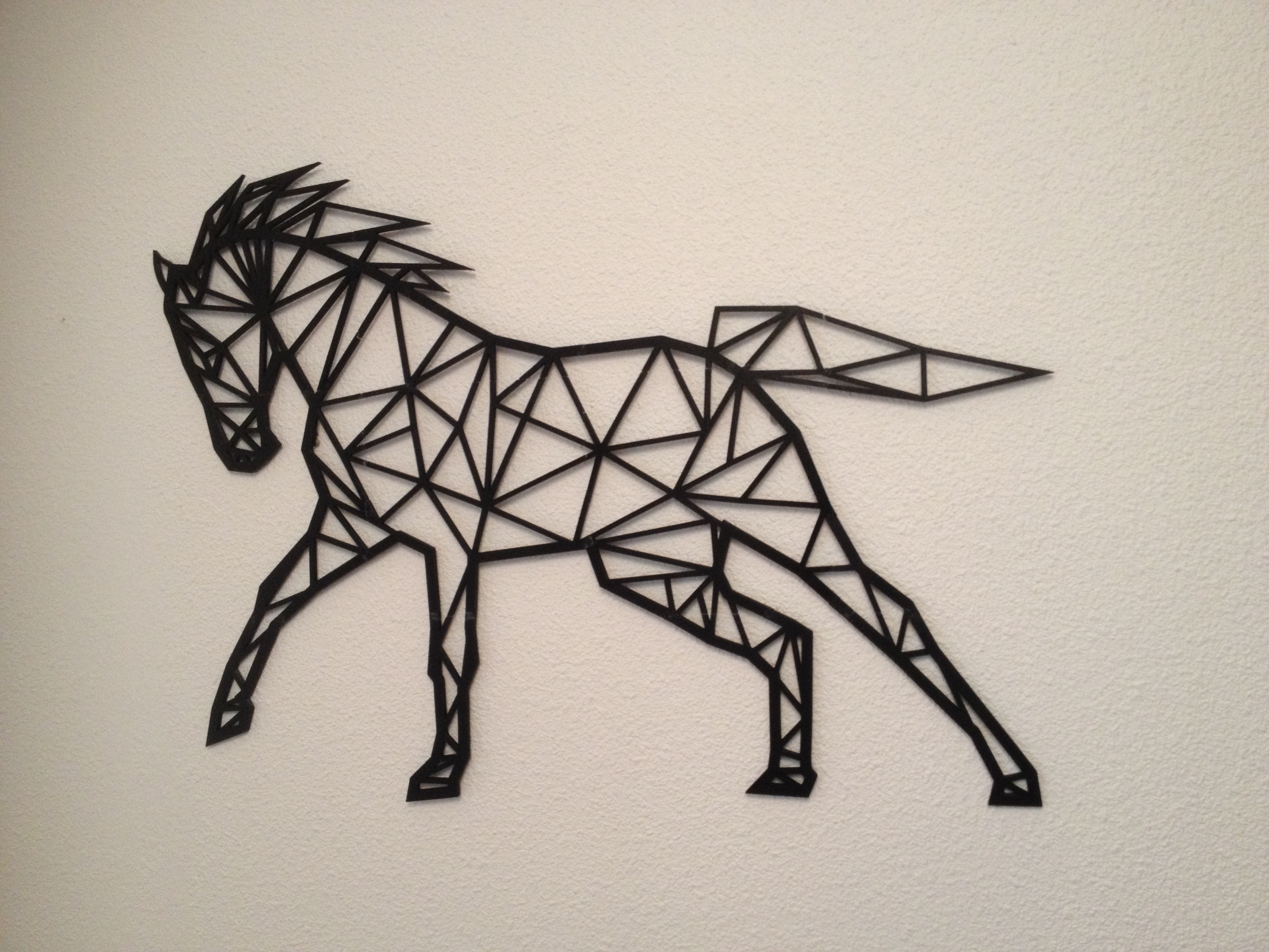 Well Known 3D Horse Wall Art With 3D Printed Horse Line Art Wall Artflowtero (View 14 of 15)
