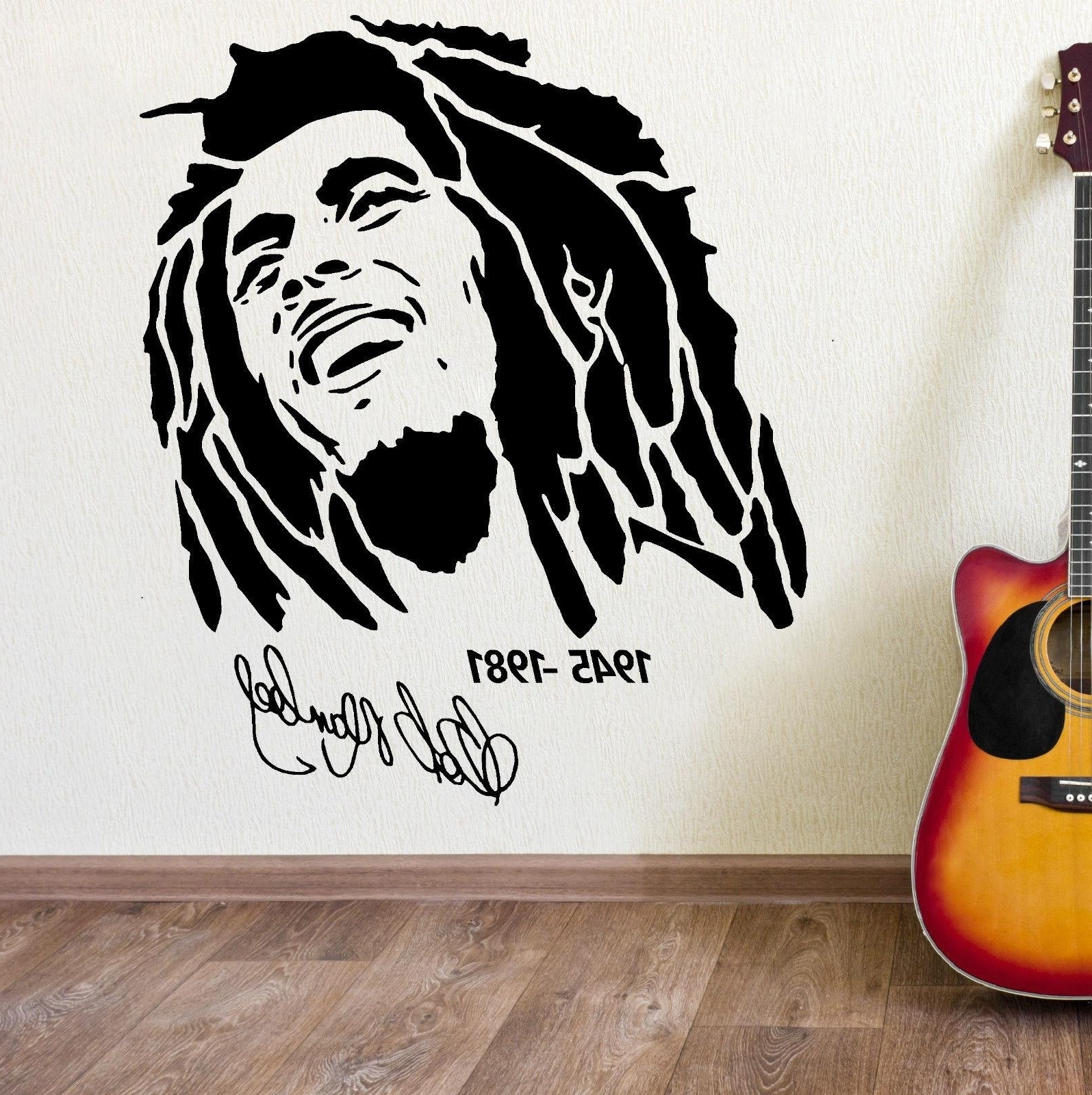 Well Known 3D Poster Classic Bob Marley Wall Graphic Vinyl Mural Sticker Cool Within Bob Marley Wall Art (View 15 of 15)