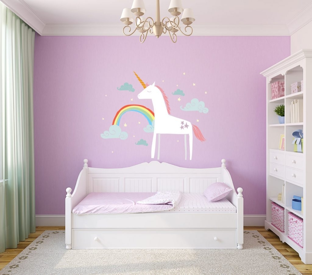 Well Known 3D Unicorn Wall Art Throughout Wonderful Ideas Unicorn Wall Art Stickers Uk Australia Nz 3D (View 14 of 15)