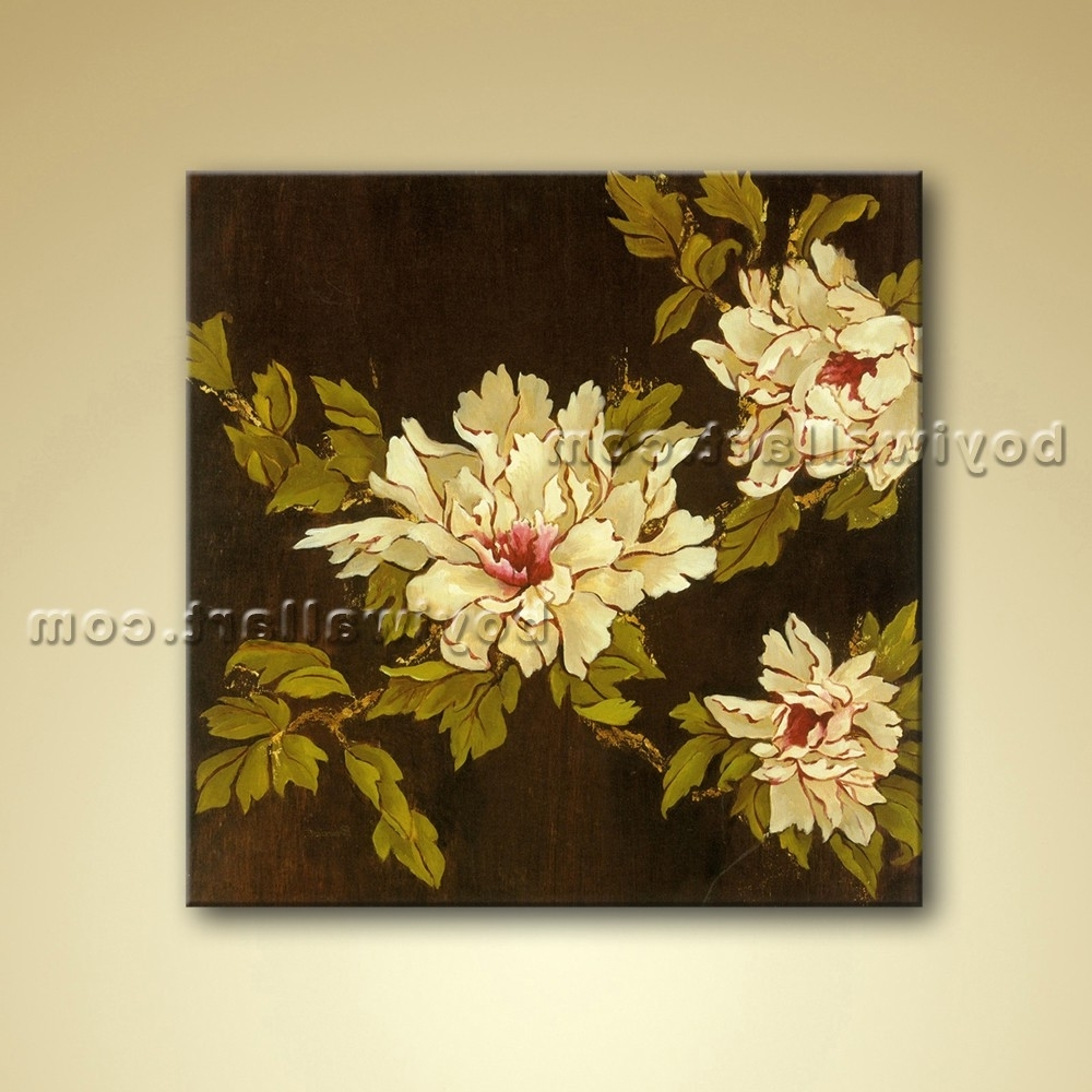Well Known Abstract Floral Painting Oil Picture On Canvas Wall Art Decor Intended For Abstract Floral Canvas Wall Art (View 15 of 15)