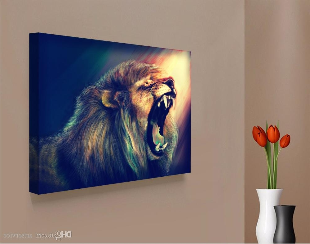 Well Known Abstract Lion Wall Art Intended For 2018 1 Panels Abstract Lion Painting Home Decor Wall Art Picture (View 15 of 15)