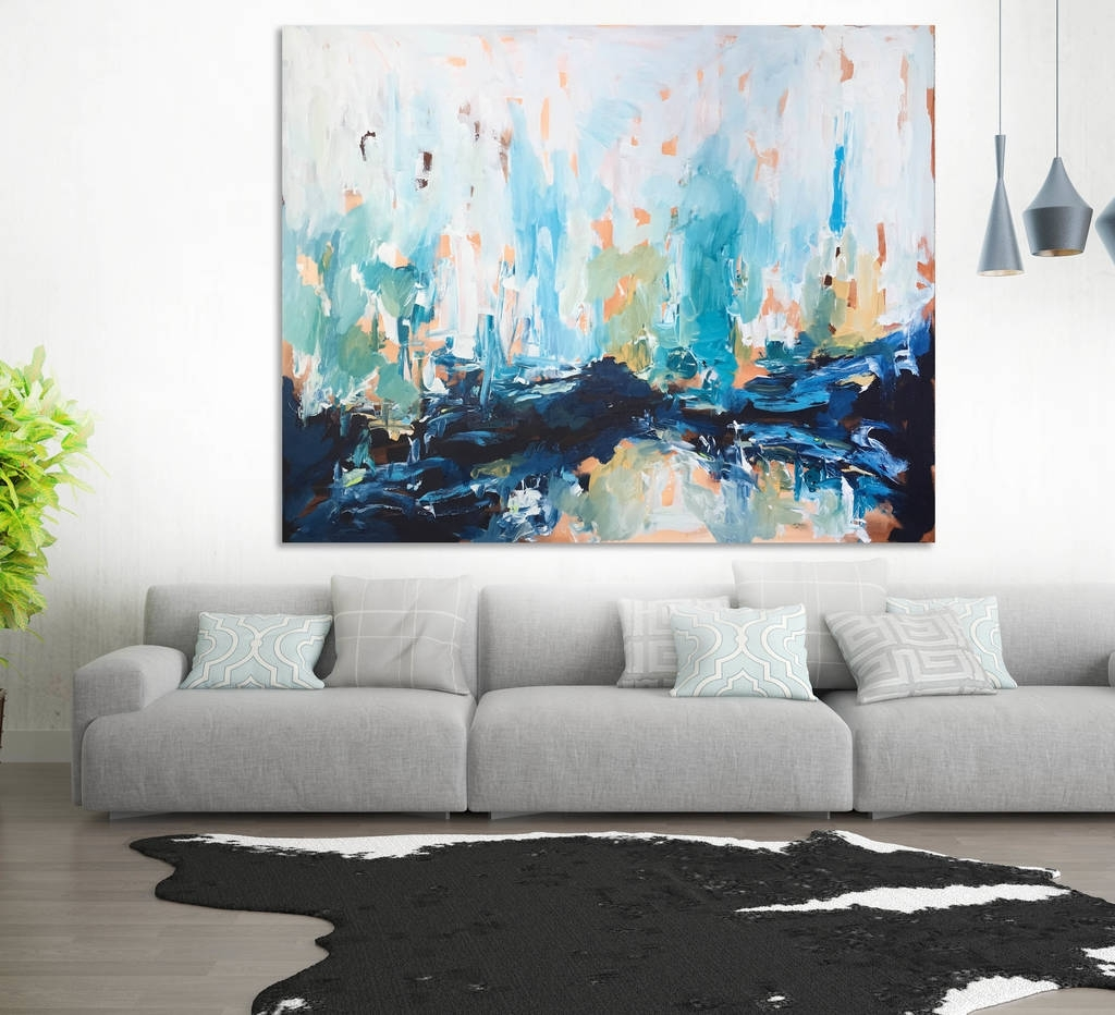 15 the best abstract wall art for living room - Wall paintings for living room ...