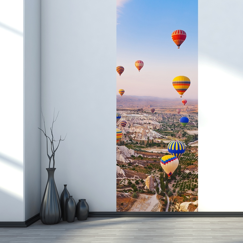 Well Known Air Balloon 3d Wall Art Regarding Turkey Hot Air Balloon 3d Door Wall Sticker Home Decor Art Decals (View 6 of 15)