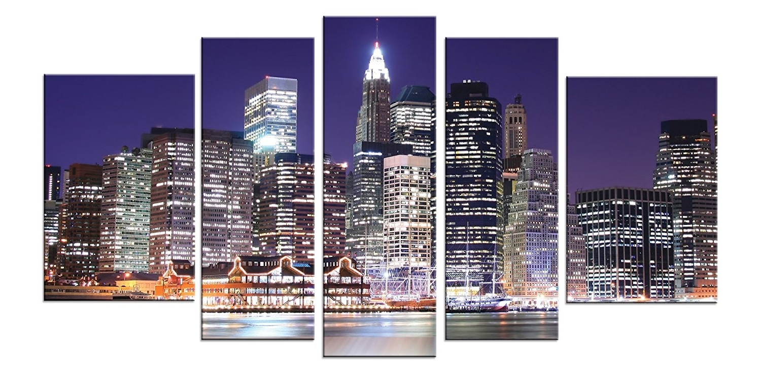 Well Known Amazon: Startonight Canvas Wall Art New York City, Manhattan Inside New York City Canvas Wall Art (View 14 of 15)