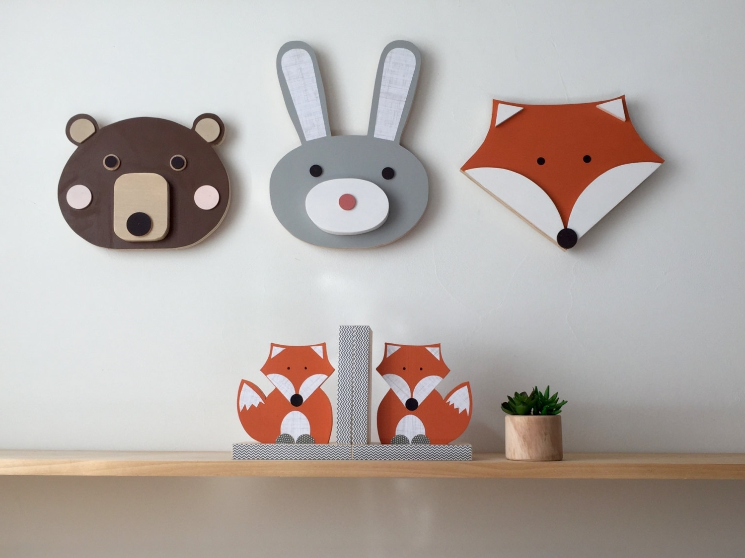 Well Known Animal Wall Art, Wood Wall Art, Wooden Animal (View 13 of 15)
