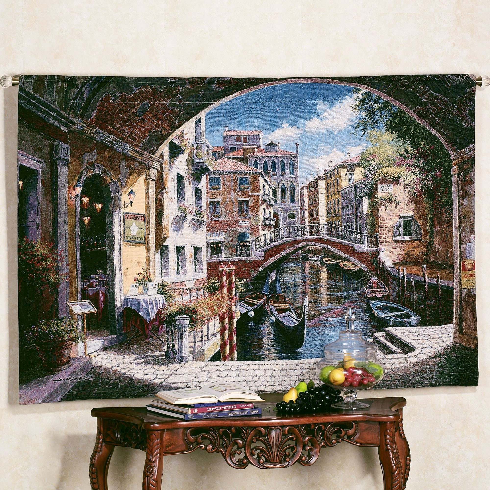 Well Known Archway To Venice Wall Tapestry With Regard To Italian Villa Wall Art (View 15 of 15)
